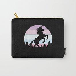 Retro Unicorn Carry-All Pouch