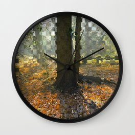 Extrude Trees Wall Clock