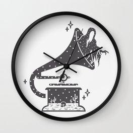 Halloween in a Gramophone Wall Clock
