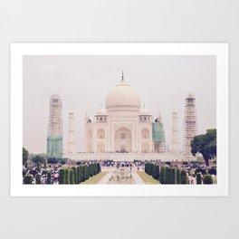 Beautiful man-made wonder Taj Mahal Art Print