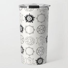 Supernatural Sigils and Symbols Travel Mug