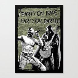 Bane/Darth in Camo Canvas Print