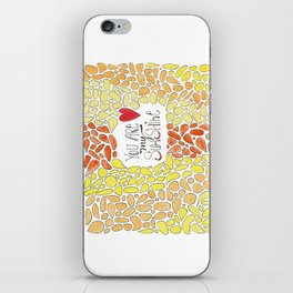 You Are My Sunshine - Happy Doodle Watercolor iPhone Skin