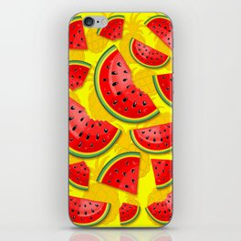 Watermelon and Pineapple Juicy Pattern iPhone Skin