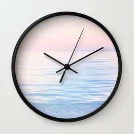 Dreamy Pastel Seascape 2. Blue & Nude #pastelvibes #Society6 Wall Clock