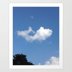 Whale Cloud Art Print