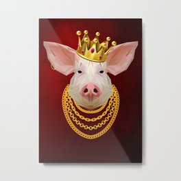 The King of Pigs Metal Print