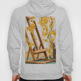Birds and Artist Painting Tools Autumn Scene #decor #society6 #buyart Hoody
