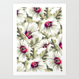 New Zealand Hibiscus Floral Print (Day) Art Print