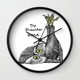 Shoulder stand Wall Clock