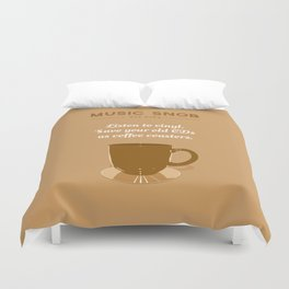 Coffee Coasters — Music Snob Tip #184 Duvet Cover