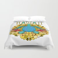hawaii Duvet Covers featuring Hawaii by Renee Ciufo