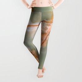 Sage Green Quartz with Rusty Veins Leggings