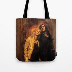 Adam and Eve Tote Bag