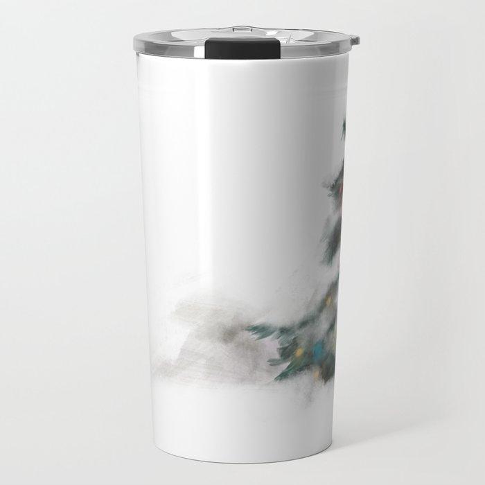 Snowy Tree Travel Mug