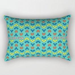 Sea for fun (green) Rectangular Pillow