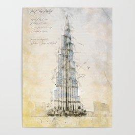 Burj Khalifa, Dubai Poster