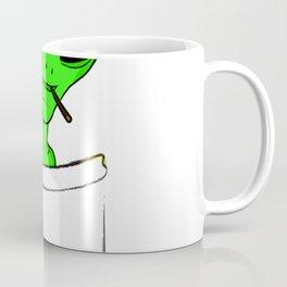 Alien in a pocket smoking weed / blunt Coffee Mug