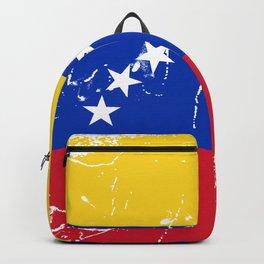 Venezuela flag design with grunge effect Backpack