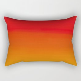 Red Apple and Golden Honey Ombre Sunset Rectangular Pillow