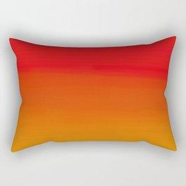 Red Apple and Golden Honey Ombre Sunset Rectangular Pillow