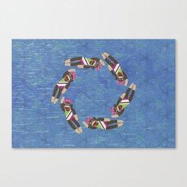 Sock Monkey Water Ballet Canvas Print