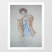 jared leto Art Prints featuring Jared leto by TheArtOfFaithAsylum