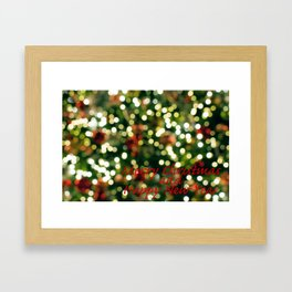 Christmas Greetings Framed Art Print