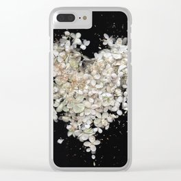 Heart Blossoms Clear iPhone Case