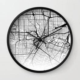 City Map Neck Gaiter Houston Texas Neck Gator Wall Clock