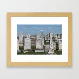 Cemetery Plots Framed Art Print