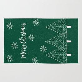 Merry Christmas Green Rug