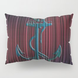 Blue Anchor With Stripes Colorful Pillow Sham