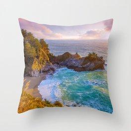 Magical Cove, Big Sur II Throw Pillow