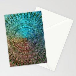 Cold Metal Flower Mandala Stationery Cards
