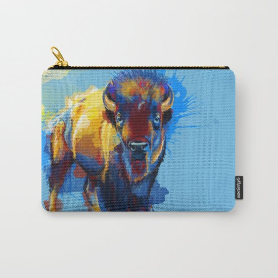 On the Plains - Bison painting Carry-All Pouch