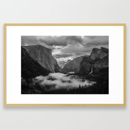 Yosemite National Park - Tunnel View Framed Art Print