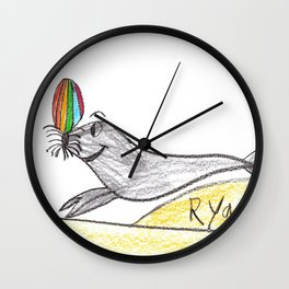 Playful Sea Lion Wall Clock