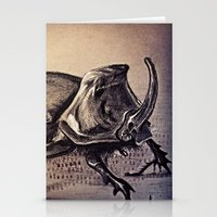 beetle Stationery Cards featuring Beetle by Werk of Art