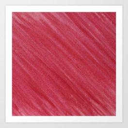 Red Diagonal Watercolor Painting Art Print