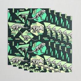 90's Dinosaur Skeleton Neon Pattern Wrapping Paper
