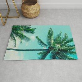 Keanae Tropical Summer Palm Trees Maui Hawaii Rug