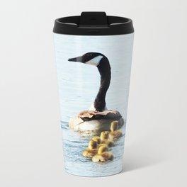 Mamma Goose and her Goslings Metal Travel Mug