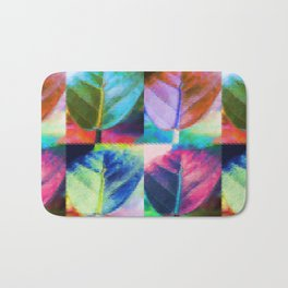 Abstract Leaf Colors Bath Mat