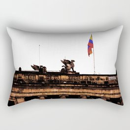 Plaza Of Bolivar, Colombia. Rectangular Pillow