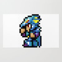 final fantasy Area & Throw Rugs featuring Final Fantasy II - Kain by Nerd Stuff