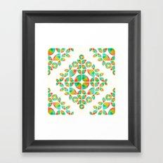 Fantasy Garden Pattern Framed Art Print