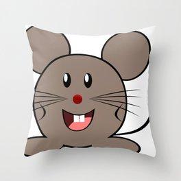 Cartoon Lovely Mouse Throw Pillow