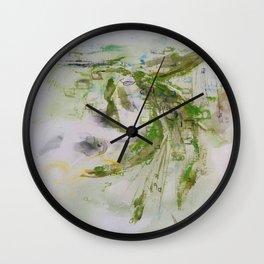 green grasses rustle Wall Clock