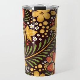 Native floral ornament Travel Mug